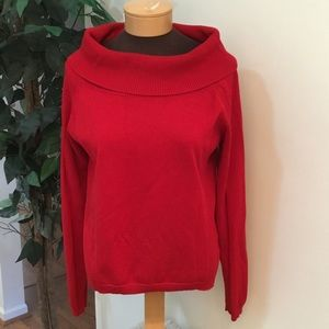 🎈. Worthington XL red long sleeve top with cowel